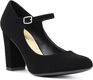 Marco Republic Monaco Womens Memory Foam Cushion Chunky Block High Heels Comfort Dress Pumps