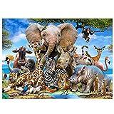 Coolzon Puzzle 1000 Teile Erwachsene Tierwelt, Farbenfrohes Puzzle für Erwachsene und Kinder ab 14...