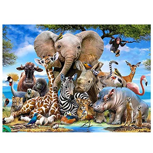 Coolzon Puzzle 1000 Teile Erwachsene Tierwelt, Farbenfrohes Puzzle für Erwachsene und Kinder ab 14 Jahren Klassische Puzzles Geschicklichkeitsspiel für die ganze Familie