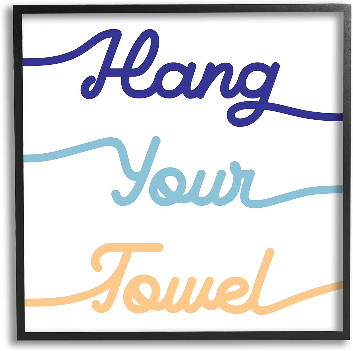 Stupell Industries Hang Your Towel Children's Phrase Ty New mail order Soldering Bathroom