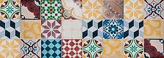 VINILIKO Vintage Tiles Alfombra de Vinilo, Multicolor,