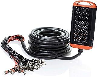 Bespeco XTRA2408L30SC Stage Box 12 conectores Combo/12 XLR F/8 XLR M, 30 m, pantallas aisladas