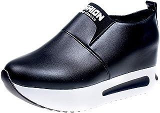 OHQ Zapatillas De Running para Mujer Sin Cordones con Plataforma Gruesa Zapatillas De Deporte Zapatos con CuñAs CóModo Y E...