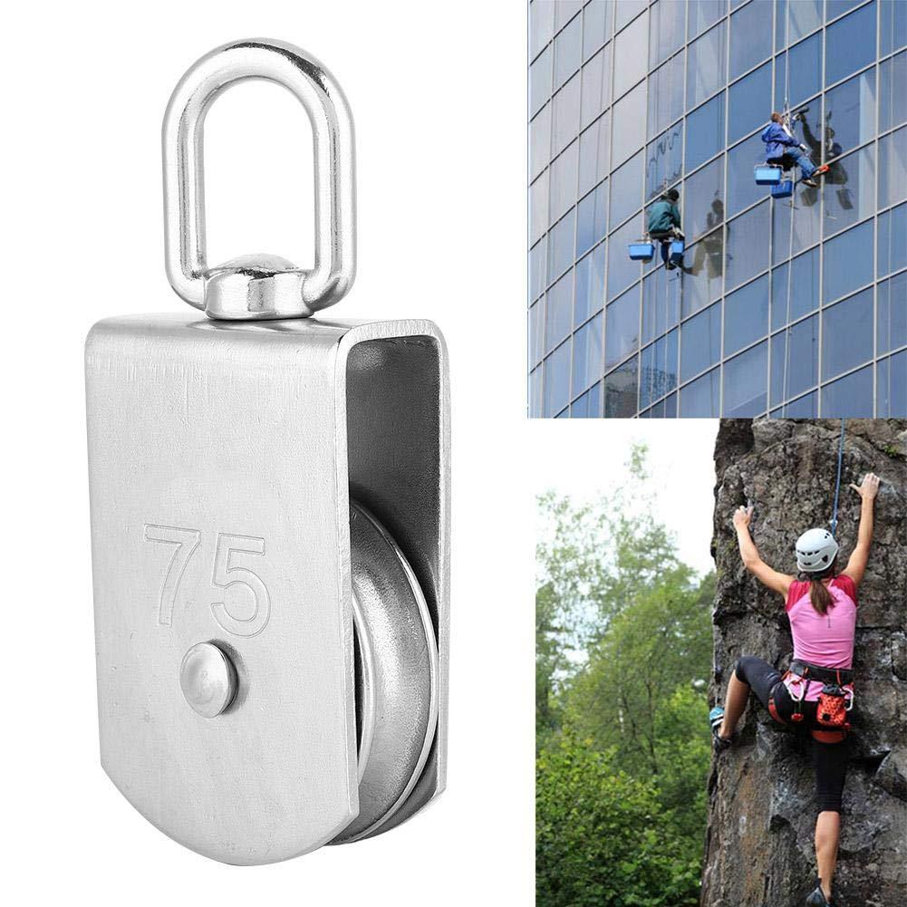 M75 Aluminium Alloy Heavy Duty Single Swivel Safety Equipment Heavy Duty Single Swivel Pulley for Climbing Safety Equipment for Rope Climbing