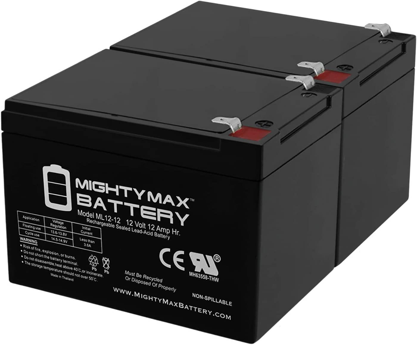 Mighty Max Battery 12V 12Ah Electra Scooter 70%OFFアウトレット 88702 F2 供え Scoot-N-Go