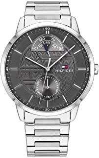 Tommy Hilfiger Mens Quartz Watch, Analog Display and Stainless Steel Strap 1791608