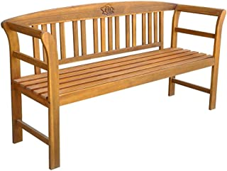 Best 3 seater acacia wood modular garden bench seat Reviews