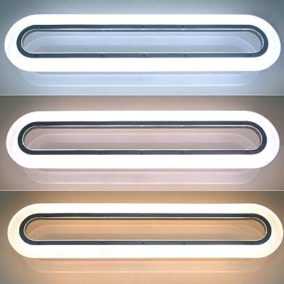ZMH LED Pendelleuchte Deckenleuchte 40W Dimmbar Büroleuchte höhenverstellbar Hängeleuchte aus Acryl Panelleuchte für Büro Hängelampe esstisch, Arbeitszimmer, Wohnzimmer Pendellampe
