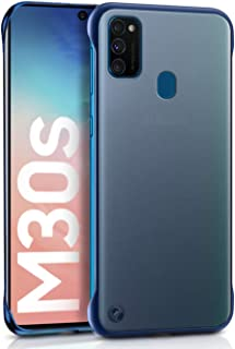 WOW Imagine   The Ultimate Case   For Galaxy M30s   Shock Proof Ultra Slim Frameless Design, Complete Protection   Hybrid Stylish Bumper Hard Back Case Cover Designed for Samsung Galaxy M30s - Deepsea Matte Blue