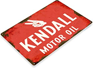 Tinworld TIN Sign C210 Kendall Oil Retro Rustic Oil Gas Station Metal Sign Decor Garage Auto Shop Cave