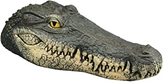 Fan-Ling New Floating Crocodile-Head,Water Simulation Crocodile-Head,Water Decoy Garden Pond Art Decor for Control Goose,34x15x8.5 cm