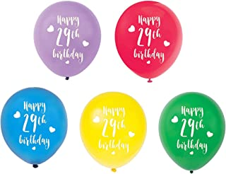 Colorful 29th Birthday Latex Balloons, 12inch (15pcs) Girl Boy Happy 29th Birthday Party Decorations Supplies