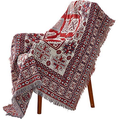 Sofadecke TV Decke, Morbuy Warme Multifunktionale Nickerchen Decke Tagesdecke Freizeitdecke Reisedecke for Sofa Fernseher Umhängetuch (90x180cm,Stricken C)