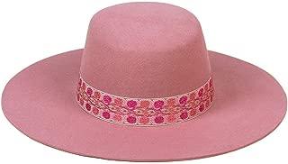 Women's Sierra Rose Wide-Brimmed Wool Boater Hat