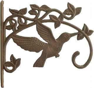 Hummingbird Plant Hanger Cast Iron Decorative Flower Basket Hook Large 11.25