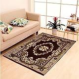 HOME ELITE Multicolor Ethnic Design Velvet Touch Carpet (140x200 cm)