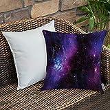 Funda De Cojine Funda de Almohada,Espacio, Nebulosa Galaxia oscura con estrellas luminosas y rayos cósmicos Astronomía Explo,Fundas de Cojín con Cremallera - Fundas de Almohada para Sofá y Cama45x45cm
