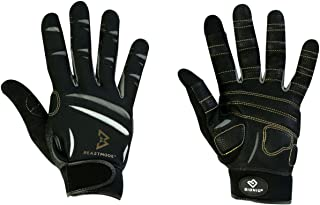 Bionic The Official Glove of Marshawn Lynch Gloves Beast Mode Men's Full Finger Fitness/Lifting Gloves w/Natural Fit Technology, Black (Pair)