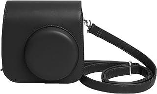 Shopizone Classic Vintage PU Leather Compact Case with Strap for Fujifilm Instax Mini 9/8 /8+ (Classic Black)