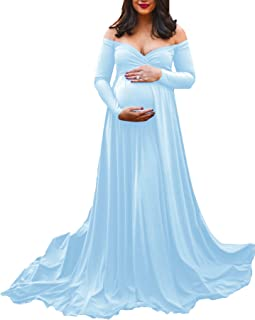 Saslax Maternity Off Shoulders Half Circle Gown for Baby...