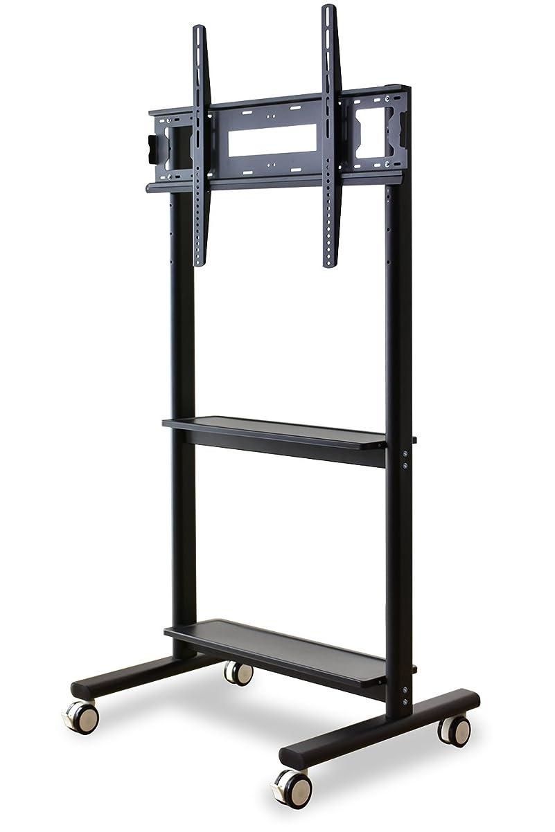 慎重ベックス国DORIS テレビスタンド 壁寄せ 32~80インチ 大型テレビ キャスター付 組立式 ブラック タイタン