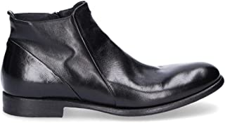 PANTANETTI Men's 10924 Black Leather Ankle Boots