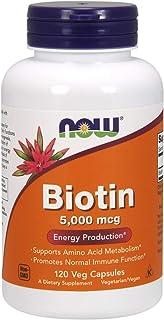Now Foods Biotin (5000mcg 120 vegetarian capsules