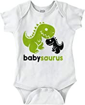 Babysaurus Cute Dinosaur Mommy Daddy T-Rex Romper Bodysuit
