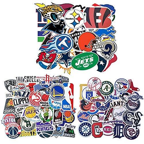 NFL&NBA & MLB - 100 pegatinas de mujer para portátiles, baterías de agua, parachoques, motocicletas, guitarras, cascos, monopatines, equipaje, pegatinas de graffiti para adultos