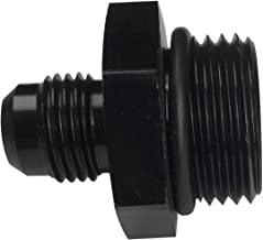 6AN Flare to 10AN Oring ORB Male Fuel Pump Rail Adapters Aluminum Hose Fitting Black with 10 O-ring Boss