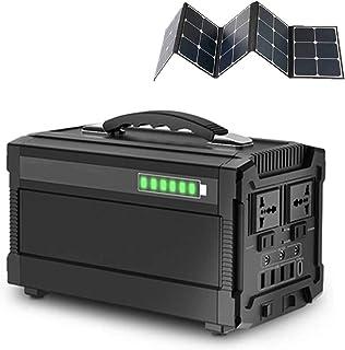 مولدات طاقة CHUXJ خارجية، مولدات شمسية، محطة طاقة محمولة 288 وات وات ساعة، مولد طاقة ليثيوم مع محول تيار متردد لموجة Sine ...