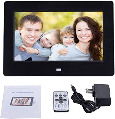 Huluda 7 Inch Digital Picture Frame Photo Frame with TN Display Player with Remote