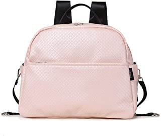 Redland Art Diaper Backpack Bag For Mother Plaid Large Capacity Waterproof Pink Maternity Bag For Baby Care Multi-functional Backpack (Color : Pink)