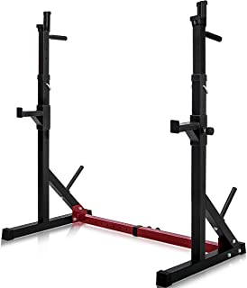 Merax Barbell Rack 550LBS Max Load Adjustable Squat Stand Dipping Station Gym Weight Bench Press Stand
