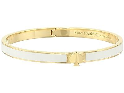 Kate Spade New York Heritage Spade Thin Enamel Spade Bangle (White) Bracelet