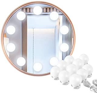 Vanity Mirror Lights, Hollywood Style USB Powered Makeup Mirror LED Lights with 10 Dimmable Light Bulbs Flexible Lighting ...