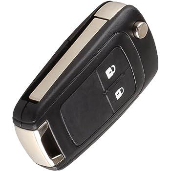 Happyit Custodia in pelle per chiave auto per Opel Astra J Corsa D Zafira C Mokka Insignia Cascada Karl Adam Meriva 2 pulsanti