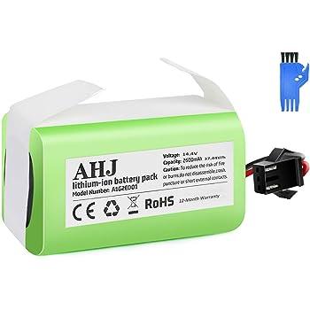 AHJ Batería de Reemplazo Compatible con Cecotec Conga Excellence 990 950 1090, Ecovacs Deebot N79S N79 DN622, eufy RoboVac 11S 11S MAX 15C MAX 30, 14.4V 2600mAh Li-Ion Batería con Cepillo