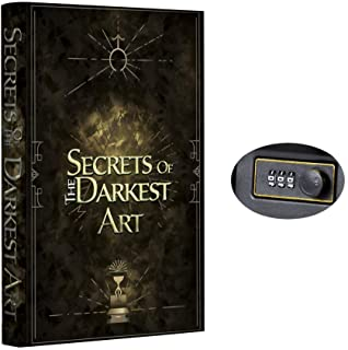 New Real Pages Portable Diversion Book Safe with Combination Lock - Hollowed Out Book with Hidden Secret Compartment for J...