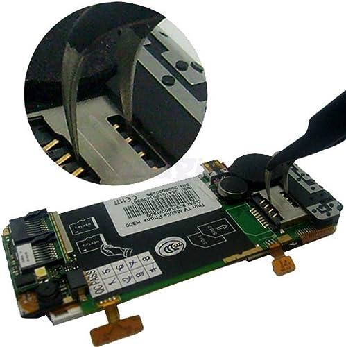YZHBA 6pcs   lot Brucelles antistatiques pour Outil de réparation de Main de Bijoux de l'ordinateur de Bijoux