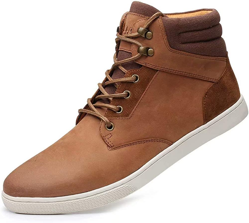 Arkbird Casual Sneaker Shoes Lace-up Recommendation Chukka Leather store Boots M for