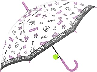 女の子 子供傘 キッズ傘 55cm ジャンプ傘 長傘 リフレクター付き ラブガールズスタイル