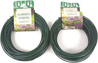 THE UM24 100 Feet Garden Wire Heavy Duty Green Coated Plant Twist Tie Garden Training Wire
