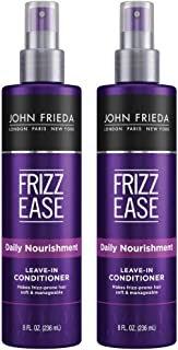 John Frieda Frizz Ease Daily Nourishment Conditioner, 2-pack, 8 Ounce Leave-in Conditioner for Frizz-prone Hair, with Vitamin A, C, and E