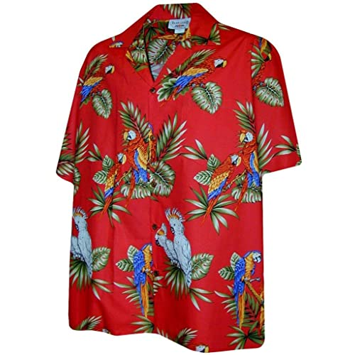22ff02f3 Pacific Legend Parrots Hawaiian Shirt