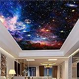 Papel tapiz mural de techo 3D moderno cielo estrellado cósmico...