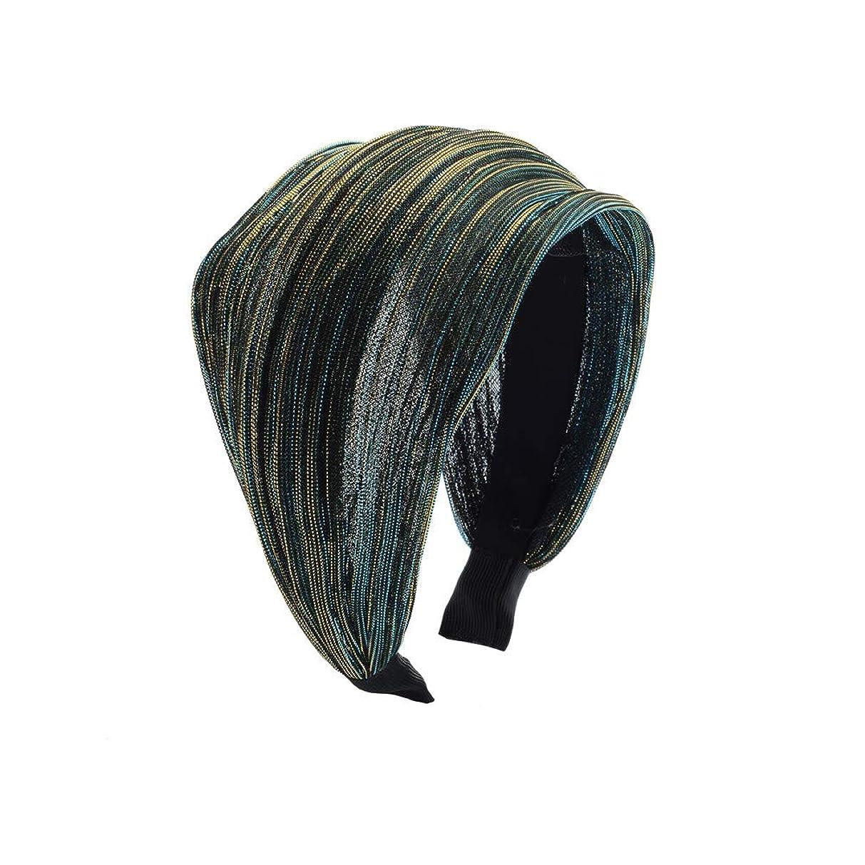 同様のバッテリー広範囲Chimera 幅広 カチューシャ シンプル やわらか布サテン ヘアバンド レディース ファッションヘアアクセサリー ワイド ターバンヘアアレンジ (グリーンブルー)