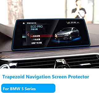"""TTCR-II for BMW 5 Series Navigation Display Screen Protector Foils[2017-2019], Anti-Explosion Touch Screen Protector[0.3mm,9H Hardness],Tempered Glass Console GPS Screen Protector [10.2"""" Trapezoid]"""