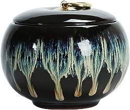 MSchunou Ceramic Seal Human Ashes Funeral Bonfire, Small and Medium Ecological pet cans, Elegant Casket, Solemn