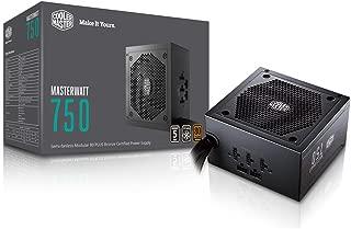 MasterWatt 750 Watt Semifanless Modular Power Supply, 80 PLUS Bronze Certified Power Supply for Computers